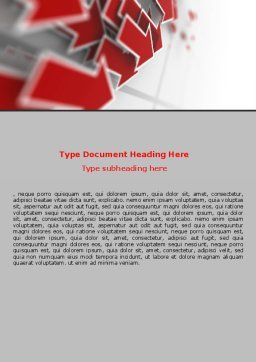 Red Arrows Word Template, Cover Page, 06878, Consulting — PoweredTemplate.com
