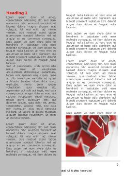 Red Arrows Word Template, First Inner Page, 06878, Consulting — PoweredTemplate.com