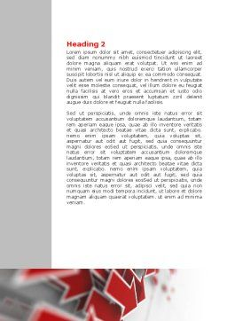 Red Arrows Word Template, Second Inner Page, 06878, Consulting — PoweredTemplate.com