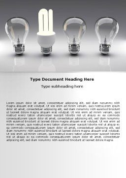 Economy Light Bulb Word Template, Cover Page, 06880, Technology, Science & Computers — PoweredTemplate.com