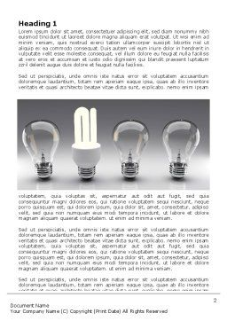 Economy Light Bulb Word Template, First Inner Page, 06880, Technology, Science & Computers — PoweredTemplate.com