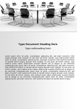 Roundtable Discussion Word Template, Cover Page, 06883, Business — PoweredTemplate.com