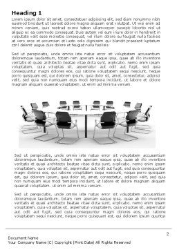 Roundtable Discussion Word Template, First Inner Page, 06883, Business — PoweredTemplate.com