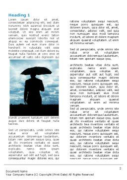 Stormy Times Word Template, First Inner Page, 06884, Consulting — PoweredTemplate.com