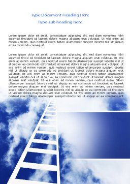 Ladder to Heaven Word Template, Cover Page, 06887, Careers/Industry — PoweredTemplate.com