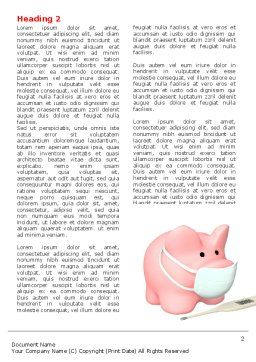 Swine Flu Word Template, First Inner Page, 06893, Medical — PoweredTemplate.com