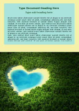 Heart Lake Word Template, Cover Page, 06896, Careers/Industry — PoweredTemplate.com