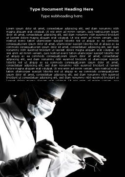 Surgery In Black And White Word Template, Cover Page, 06899, Medical — PoweredTemplate.com