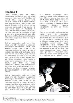 Surgery In Black And White Word Template, First Inner Page, 06899, Medical — PoweredTemplate.com