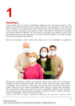 Epidemic Precautions Word Template, First Inner Page, 06902, Medical — PoweredTemplate.com