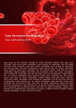 Blood Clot Word Template, Cover Page, 06904, Medical — PoweredTemplate.com