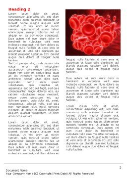 Blood Clot Word Template, First Inner Page, 06904, Medical — PoweredTemplate.com
