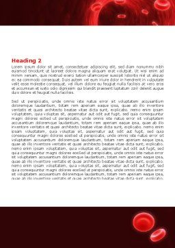 Blood Clot Word Template, Second Inner Page, 06904, Medical — PoweredTemplate.com
