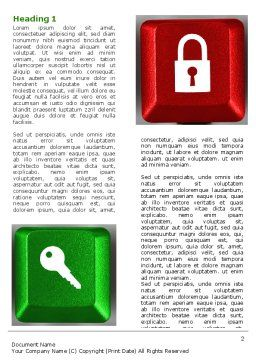Lock And Key On The Keyboard Word Template, First Inner Page, 06905, Business Concepts — PoweredTemplate.com