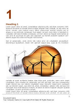 Energy Saving Technologies Word Template, First Inner Page, 06908, Careers/Industry — PoweredTemplate.com