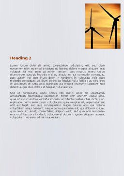 Energy Saving Technologies Word Template Second Inner Page