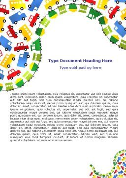 Childish Car Theme Word Template, Cover Page, 06909, Education & Training — PoweredTemplate.com