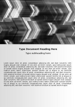 Gray Arrows Word Template, Cover Page, 06910, Business — PoweredTemplate.com