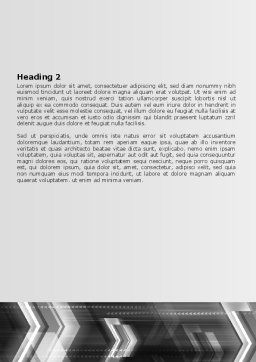 Gray Arrows Word Template, Second Inner Page, 06910, Business — PoweredTemplate.com