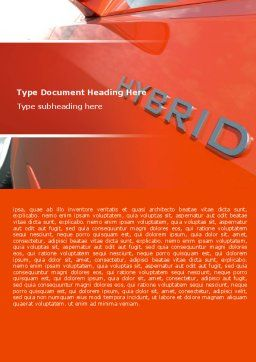 Hybrid Car Word Template, Cover Page, 06911, Technology, Science & Computers — PoweredTemplate.com
