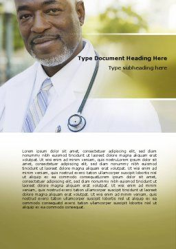 Internist Word Template, Cover Page, 06915, People — PoweredTemplate.com