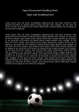Football Stadium In The Night Word Template, Cover Page, 06916, Sports — PoweredTemplate.com