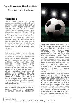 Football Stadium In The Night Word Template, First Inner Page, 06916, Sports — PoweredTemplate.com