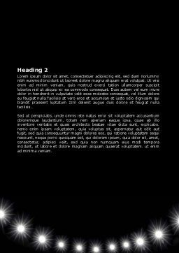 Football Stadium In The Night Word Template, Second Inner Page, 06916, Sports — PoweredTemplate.com