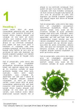 Free Green World Word Template First Inner Page
