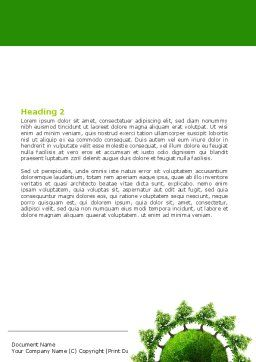 Free Green World Word Template Second Inner Page