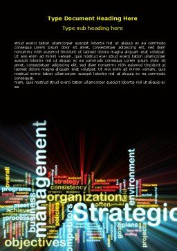 Strategic Management Word Template, Cover Page, 06919, Business — PoweredTemplate.com