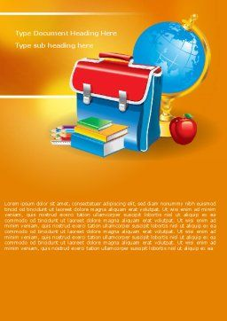 School Bag Word Template Cover Page