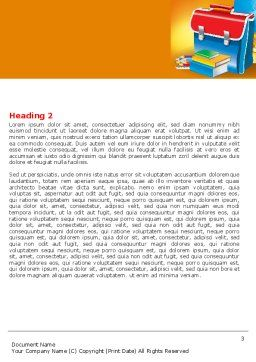School Bag Word Template Second Inner Page