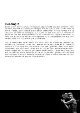 Tennis Player Word Template, Second Inner Page, 06921, Sports — PoweredTemplate.com