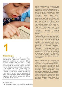 Women's Education In Maghreb Word Template First Inner Page