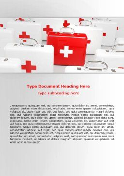 Emergency Medicine Chest Word Template, Cover Page, 06925, Medical — PoweredTemplate.com