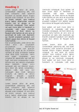 Emergency Medicine Chest Word Template, First Inner Page, 06925, Medical — PoweredTemplate.com