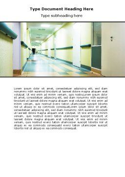Hospital Hallway Word Template, Cover Page, 06928, Medical — PoweredTemplate.com