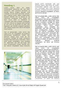 Hospital Hallway Word Template, First Inner Page, 06928, Medical — PoweredTemplate.com