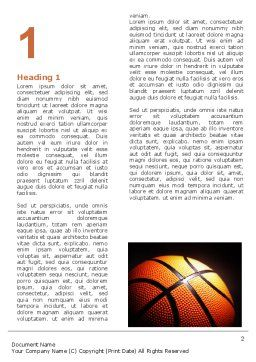 Basketball Ball on NBA Colors Floor Word Template, First Inner Page, 06934, Sports — PoweredTemplate.com