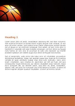 Basketball Ball on NBA Colors Floor Word Template, Second Inner Page, 06934, Sports — PoweredTemplate.com