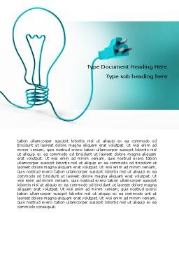 Electric Light Bulb Word Template, Cover Page, 06935, Consulting — PoweredTemplate.com