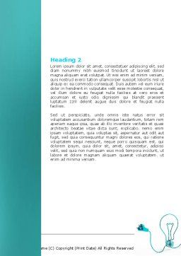 Electric Light Bulb Word Template, Second Inner Page, 06935, Consulting — PoweredTemplate.com