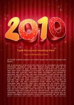N 2010 Yr Word Template, Cover Page, 06939, Holiday/Special Occasion — PoweredTemplate.com