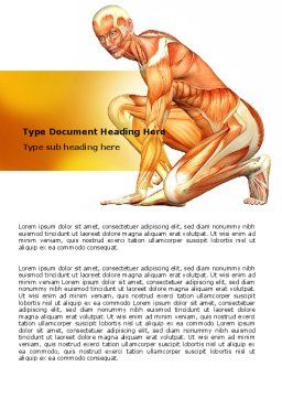 Muscles Of The Human Body Word Template, Cover Page, 06941, Medical — PoweredTemplate.com