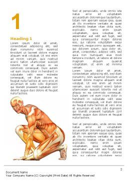 Muscles Of The Human Body Word Template, First Inner Page, 06941, Medical — PoweredTemplate.com