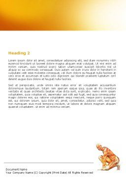 Muscles Of The Human Body Word Template, Second Inner Page, 06941, Medical — PoweredTemplate.com