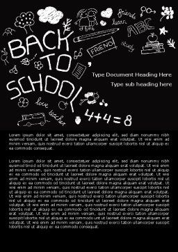 School Blackboard Word Template Cover Page
