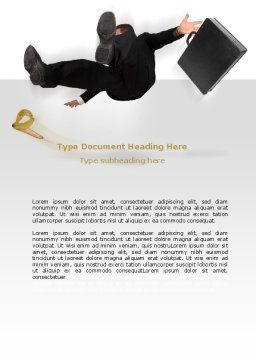 Slipping Man Word Template, Cover Page, 06946, Consulting — PoweredTemplate.com