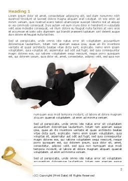 Slipping Man Word Template, First Inner Page, 06946, Consulting — PoweredTemplate.com
